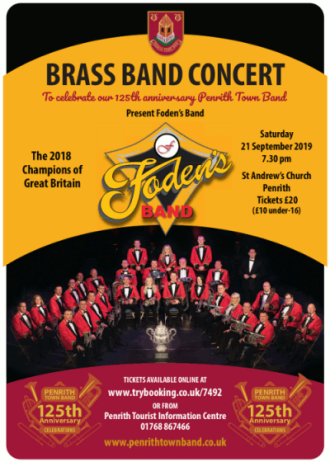 All the details ahead of the Foden's Brass Band Concert