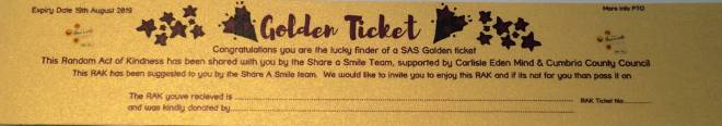 Look out for the SAS Golden Tickets