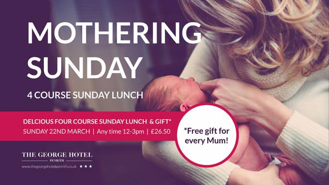 Join us at The George and treat your Mum!