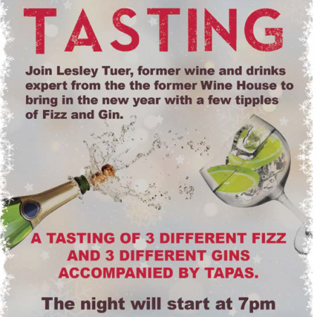 Gin & Fizz Tasting - A great way to bring in the New Year